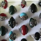 Wholesale Rings 5 - 30 Rings 1920's Tibetan Silver Sparkling Resin Vintage Box