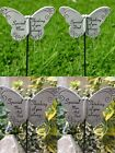 Butterfly Memorial Tribute Stick Graveside Plaque Thinking of Special Mum Dad