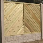 Deluxe Planed Timber Fence Panel 'The Olympian' Pressure Treated Straight Top