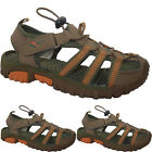 BOYS WALKING SANDALS CLOSE TOE TRAIL STRAP FASTENING TOGGLE FRONT SPORTS SHOES