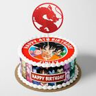 Dragon balll Goku PERSONALISED EDIBLE Icing Cake Wrapper Toppers Round
