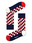 Happy Socks - Socks - Filled Optic Sock - Blue - Red - White