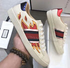 NEW GUCCI ACE EMBROIDERED MEN SNEAKER FIRE  US 07 08 09 10 11