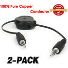1M Retractable Auxiliary Audio Cable to connect Mobiles Cars Docks MP3 Players