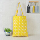 stylish canvas tote bags - Canvas Check Bag Tote Square Cotton Eco Star Shoulder Plaid Stylish Shopping