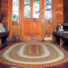 Homespice Decor Pumpkin Pie Olive Mustard Cotton Country Cottage Braided Rug