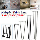 4 x Hairpin Legs Steel Hair Pin Legs Furniture Bench Desk Table 14
