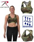 Womens Camo Sports Bra Workout Performance Stretch Gym Yoga Exercise Rothco 4922