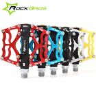 ROCKBROS Mountain Bike Pedals Aluminum Alloy  MTB Sealed Bearing Pedals 9/16'