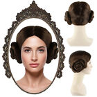 White Dress or Buns Wig Cosplay Star Wars Princess Leia Halloween Party Costume