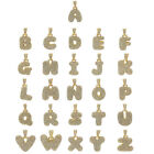 """Alphabet Bubble Letter Iced Out Pendant 5mm 20"""",24"""",30"""" or 36"""" Rope Chain HipHop"""
