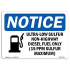 OSHA Notice - Ultra-Low Sulfur Non-Highway Sign With Symbol   Heavy Duty