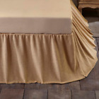 Burlap Natural Country Bedding Cotton Gathered Bed Skirt