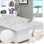 FULL Mattress Cover Protector Waterproof Terry Towel Extra Deep Fitted Sheet  image