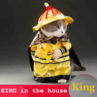 Pet King Empire Cosplay Costumes Small Cats Dogs Golden Suit Fashion Clothing