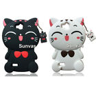 For Huawei Phones 3D Cartoon Lucky Cat Soft Silicone Back Case Skin Cover Shell