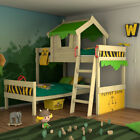 WICKEY CrAzY Jungle doublebed Children's bunk bed Adventure with ladder and roof