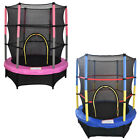 "4.5FT 55"" Junior Trampoline With Safety Net Enclosure Kids Child Outdoor Toy"