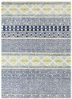 Modern Contemporary Casablanca Navy Tribal Patterns Oblongs & Round Rugs & Hall