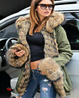 Women Winter Thick Faux Fur Coat Long Hooded Parka Jacket Windproof Trench S-3XL