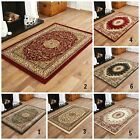 BEST DISCOUNT TRADITIONAL ELEGANT CLASSIC RED GREEN BEIGE RUGS , ROUND & RUNNER