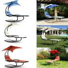 outdoor pool lounge chairs - Rocking Outdoor Patio Chaise Lounge Chair W/Canopy Garden Porch Pool Rocker Q3O3