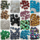 Czech Glass 6mm Square Tile Beads CzechMates 25 Pack two hole handmade jewellery