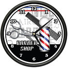 BARBER SHOP Wall Clock hair salon cutter pole gift