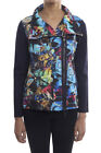 Joseph Ribkoff Blue/Multi Printed Zip Up Women's Jacket  New Season 181717