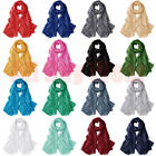 Women Solid Color Oversized Shawl Wrap Beach Scarf