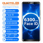"Oukitel K6 6.0"" Android 7.1 6GB+64GB NFC Face ID 4G Mobile Phone 6300mAh"