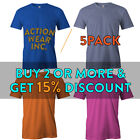 5 PACK AAA BIG AND TALL MENS SHIRT SHORT SLEEVE T SHIRT PLAIN TEE SOLID CASUAL image