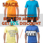5 PACK PROCLUB PLAIN MENS SHORT SLEEVE T SHIRT COMFORT LIGHTWEIGHT COTTON TEE image