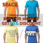 5 PACK PROCLUB PRO CLUB MENS PLAIN SHORT SLEEVE T SHIRT COMFORT COTTON TEE image