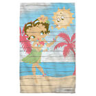 Betty Boop HULA BOOP Grass Skirt Palm Trees Lightweight Beach Towel $13.17 USD on eBay