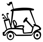 Golf Cart Vinyl Decal Sticker Sports Golfing Wall Cart Decor Choose Color Size