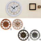 Large Non Ticking Silent 3D Wall Clock, Battery Operated Quartz Analog Quiet