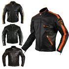 Biker Custom Cruiser Motorcycle CE Armours Quality Leather Jacket A-Pro