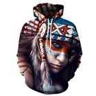 New Men Women Fashion 3D Hoodie Funny Colorful Psychedelic Indian Sexy Gaming