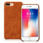 Real Leather Case for iPhone 7 8 Plus Cover Genuine Leather Luxury Slim Back