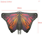 Printed Chiffon Butterfly Beach Towel Peacock Wing Shawl Women Party Costume New