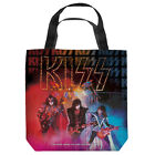 KISS STAGE LIGHTS LICENSED LIGHTWEIGHT TOTE BAG 2 SIDED PRINT