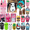 3D Cartoon Unicorn Bear Mask Soft Silicone Phone Case For iPhone X 5 6 7 8 Plus