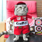 Pet Dog Cat Racing Driver Costume Suit Clothes Costumes Party Halloween Dress