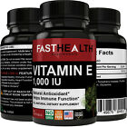 Natural Vitamin E 1000 I.U. | 60 Softgels Per Bottle | High Potency, Non-GMO