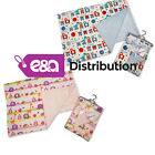 E&A Reversible Blue Baby Train Pink Jungle With Cotton Bubble Back