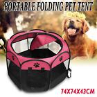 Small Puppy Dog Cat Pet Travel Garden Bed Folding Portable Doggie Play Pen Tent