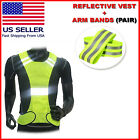 Внешний вид - Outdoor Running Cycling Walking Safety Visibility Reflective Vest + 2 Arm Bands