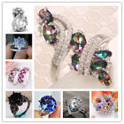 Hot Sale Fashion 925 Silver Sapphire Ring Wedding Party Women Jewelry Size 6-10
