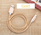 For iPhone 6s 7 Plus 8 X USB Charger Cable 1M 2M 3M Long Nylon Charging Cable